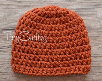 Brown Baby Hat, Brown Newborn Hat, Simple Baby Hat, Brown Baby Boy Hat, Baby Boy Hat, Newborn Beanie, Hospital Baby Hat, Take Home Outfits