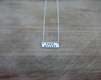 Handcrafted Sterling Silver FREE SPIRIT Necklace