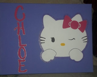 "Personalized ""Hello Kitty"" Painting"