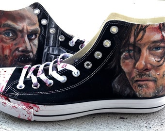 The Walking Dead Fan Converse All Star Custom Painted Shoes