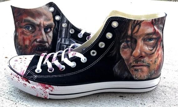 The Walking Dead Fan Converse All Star Custom Painted Shoes