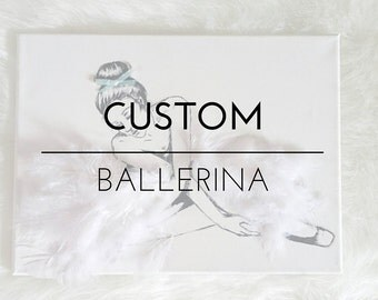 Custom 3d ballerina painting