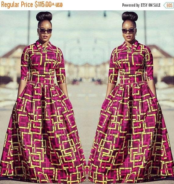 SUMMER SALE Michelle fancy African print Maxi Skirt
