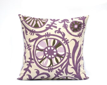"One floral pillow covers, cushion, decorative throw pillow, coral pillow, 18x18, purple pillow, grey Pillow, 16"", 18"" 20"" 21"""