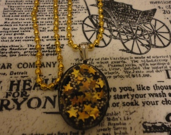 Gold Cosmic Necklace