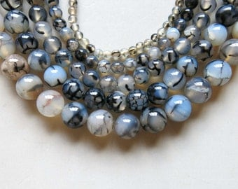 Full Strand 15inches Agate Faceted Round Beads - A499