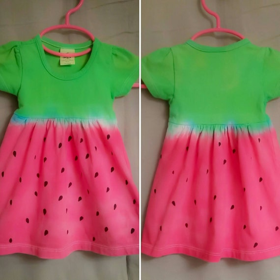 Hand Dyed Watermelon Dress Tie Dye/Infant & Toddler