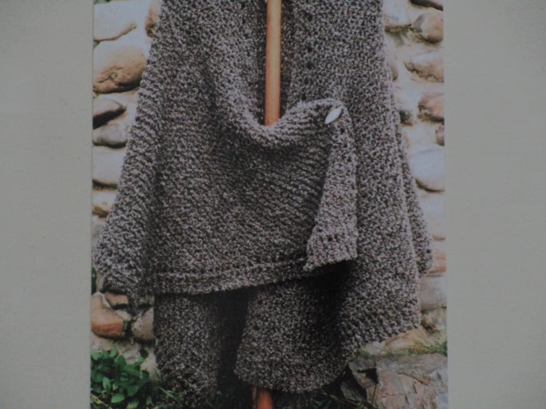 Knit Ruana Pattern Free : Knitting Pattern Oat Couture Knit Ruana by BarneswallowFarm