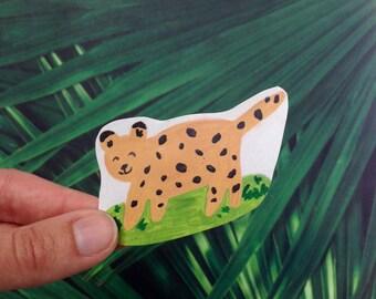 Happy Leopard Sticker