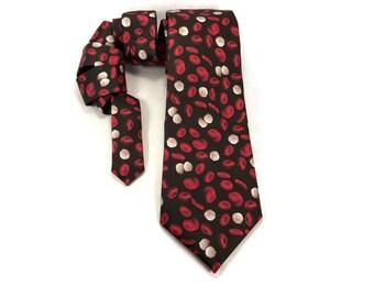 Blood tie, red blood cells, white blood cells, phlebotomist tie, Science tie, hematology tie, Doctor tie, blood accessory, medical, necktie