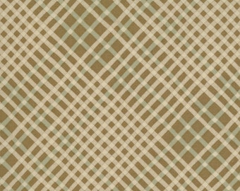 Brown plaid quilting fabric 2014-22
