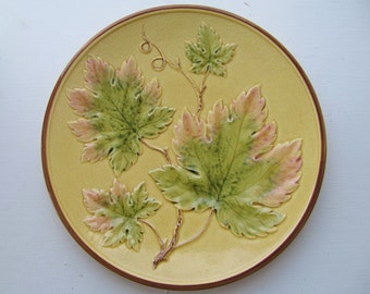 """Majolica 11"""" Charger Germany Zell c.1910"""