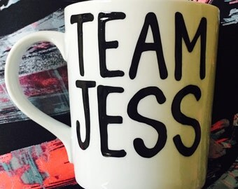 Team Jess Oy with the poodles already- Gilmore Girls coffee mug- Gilmore Girls quotes - gifts for a jessica- gifts for a jess