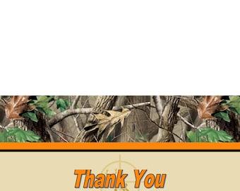 Camo THANK YOU Cards (5x7 folded) U-Print