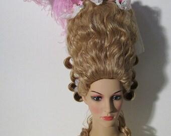 Marie Antoinette wig, unique piece , Parrucca 18 century, parrucca settecento ready to ship