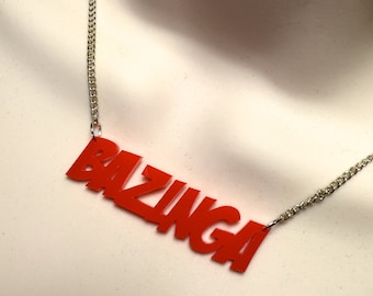 BAZINGA...Big Bang Theory influenced necklace