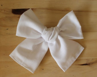 Big Big Pure White Bow (headband or clip)