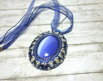 Blue Pearl pendant big