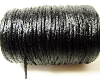 D-02753 - 5 meter Satin Cord black 2mm