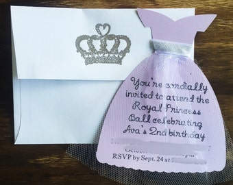 Princess dress invitation sophia the first sophia sophia the first invitations sophia the first birthday sophia the first dress princess