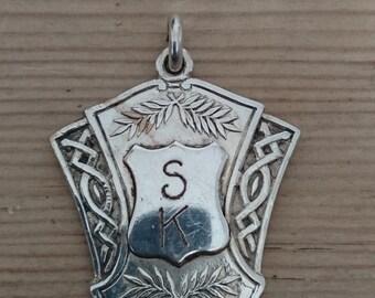 vintage silver medallion