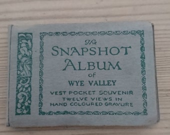 small vintage snap shot album of the Wye Valley