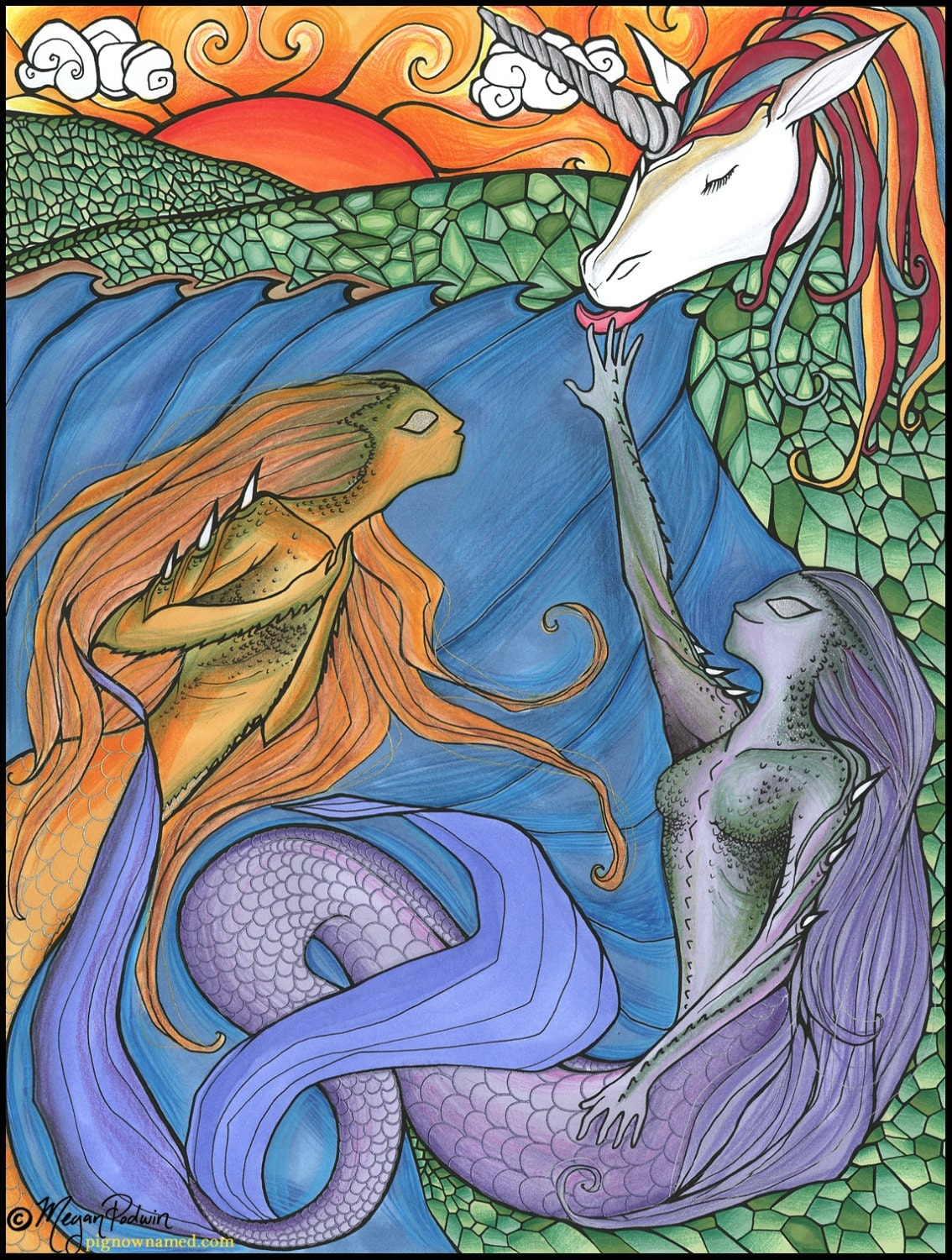 Nico the unicorn coloring pages - Only Natural A Coloring Book By Megan Podwin