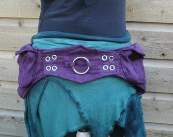 Hip bag with two pockets made of soft suède look fabric *  Utility belt