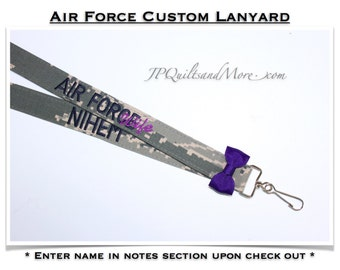 Embroidered Air Force Lanyard