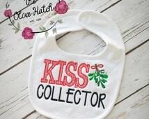 Kiss Collector Christmas Bib-- Embroidery