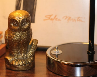 Brass Owl Statue by Nine Star Vintage