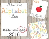 DIY Alphabet Book - Baby's First Alphabet Book - Book Theme Baby Shower Game -Baby Shower Game - Instant Download - Print at Home