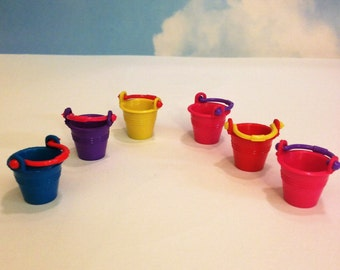 Miniature Beach Bucket Pails Fairy Accessories Terrarium S upply