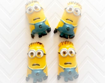 20mm Yellow Minions Resin Cabochon 4 pcs