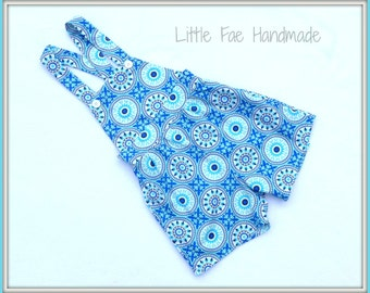 Size 3 boo overalls blue flowers