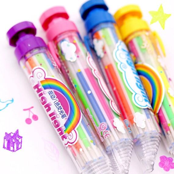 ... Retractable Multi Pen Highlighters Glitter Pen 0.7mm Greeting Card Pen