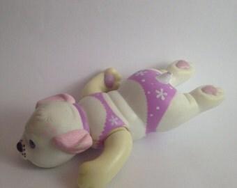 Vintage 1994 puppy surprise bath swimming dog Toy Figure