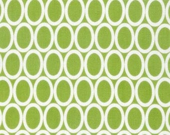 Lime Green Oval Fabric - Remix collection by Ann Kelle from Robert Kaufman. Circle Dot pattern. 100% cotton. AAK-13389-50