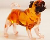 Pug Dog - a glass figurine.