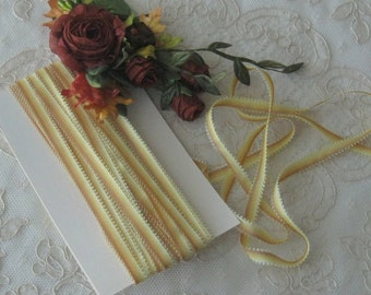 """Mokuba Rayon Picot Ombre Ribbon - 1/4"""" Wide - Great for Ribbonwork, Crafting & Sewing, Crazy Quilt, Dolls, Teddy Bears"""