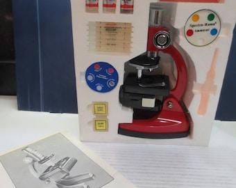 Vintage 1984 Tasco 750 Power Microscope W/ Discovery Kit 75x 300x 750x
