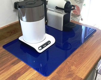 Rectangle Worktop Saver in Blue Acrylic - 3 Sizes Available
