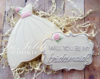 Bridesmaid, Maid of Honor or Flower Girl cookie gift set
