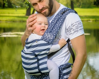 Buckle Baby Carrier / Sling / Soft structured/ by Bagy™ Nautical/ Ergo Carrier