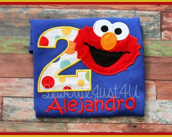 Elmo Themed BIrthday Number Tee