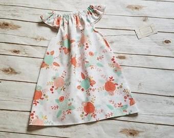 Size 4T Floral Flutter Sleeve Dress Spring Dress Summer Dress Grow with me dress Everyday play dress playdress  beach beachware