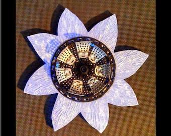 Handmade Lavender Mixed Media Flower