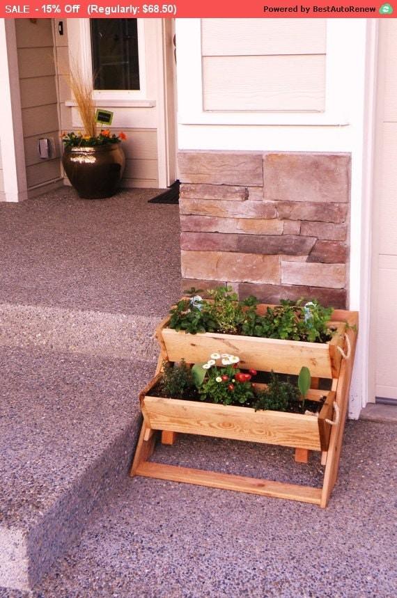 vertical garden kit 2 planter sys 16 wide wall by ropedoncedar. Black Bedroom Furniture Sets. Home Design Ideas