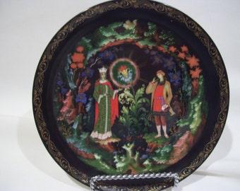 Black Russian Fairy Tale Plate,Bradford Exchange,1990