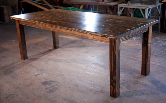 8 Solid Wood Farmhouse Table Farmhouse Dining Table